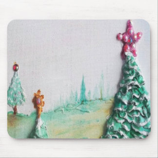 3D GLITTER L@@K of Christmas Trees and Gifts Mouse Pad