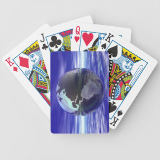 3D Globe 10 Bicycle Playing Cards