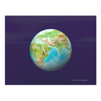 3D Globe 11 Postcard