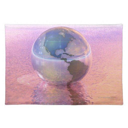 3D Globe 12 Place Mats