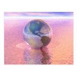 3D Globe 12 Post Card