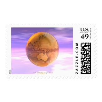 3D Globe 14 Stamps