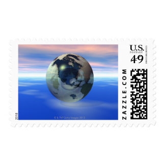 3D Globe 15 Stamps