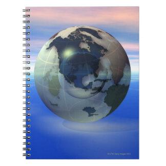 3D Globe 15 Spiral Notebook