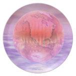 3D Globe 16 Plate