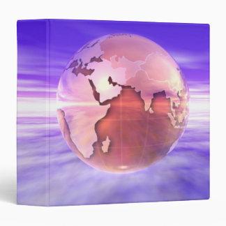3D Globe 17 3 Ring Binder