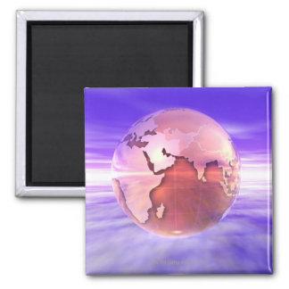 3D Globe 17 Refrigerator Magnet