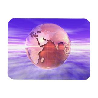 3D Globe 17 Flexible Magnets