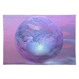 3D Globe 18 Place Mats