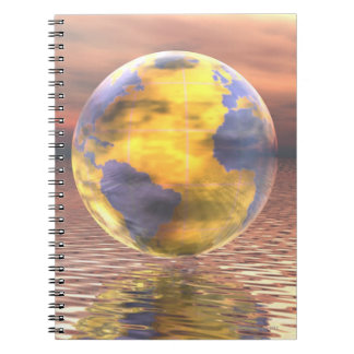 3D Globe 19 Notebook