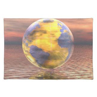 3D Globe 19 Place Mat
