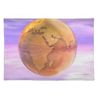 3D Globe 2 Placemat
