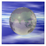 3D Globe 3 Ceramic Tile