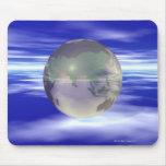 3D Globe 3 Mousepads