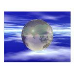 3D Globe 3 Post Cards