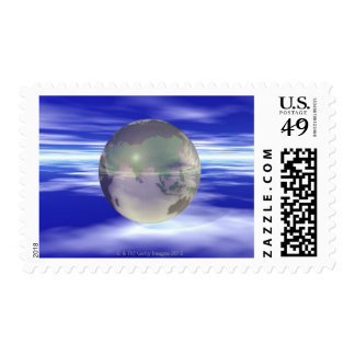 3D Globe 3 Stamp