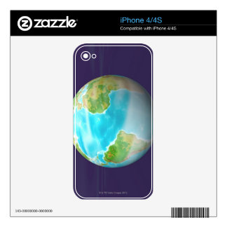 3D Globe 4 Decal For The iPhone 4