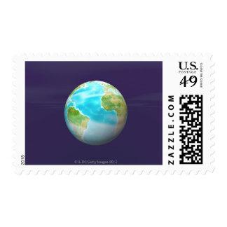 3D Globe 4 Postage