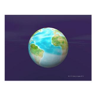 3D Globe 4 Postcard