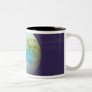 3D Globe 4 Two-Tone Coffee Mug