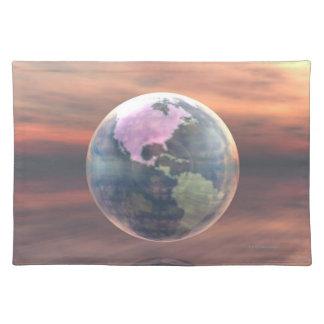 3D Globe 5 Place Mat