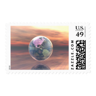 3D Globe 5 Stamps