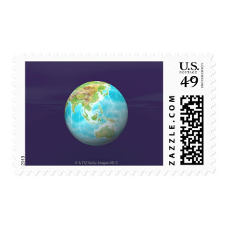 3D Globe 6 Postage Stamps