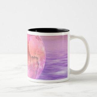 3D Globe 8 Two-Tone Coffee Mug