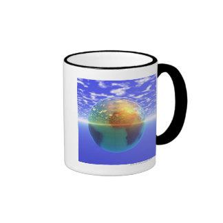 3D Globe 9 Coffee Mugs