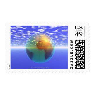 3D Globe 9 Stamps