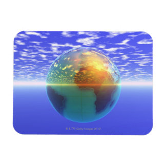 3D Globe 9 Magnet
