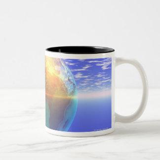 3D Globe 9 Two-Tone Coffee Mug