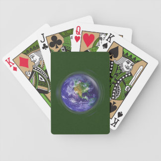 3D Globe Earth Day Bicycle Playing Cards