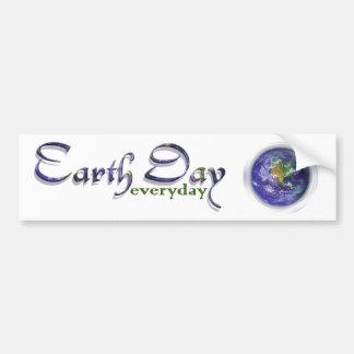 3D Globe Earth Day Bumper Sticker