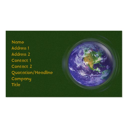 3d globe earth day double sided standard business cards for 3d business cards templates