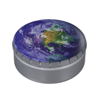 3D Globe Earth Day Jelly Belly Candy Tins
