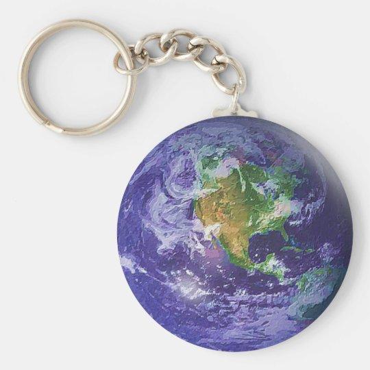 3D Globe Earth Day Keychain