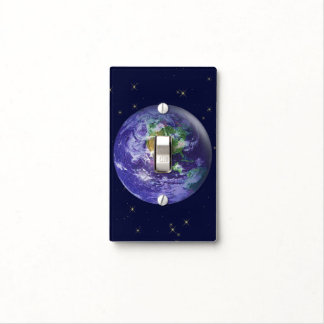3D Globe Earth Day Light Switch Covers