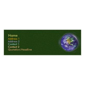 3D Globe Earth Day Mini Business Card
