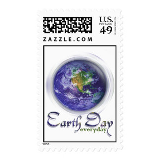 3D Globe Earth Day Stamp