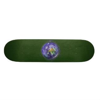 3D Globe Earth Day Skateboard Decks