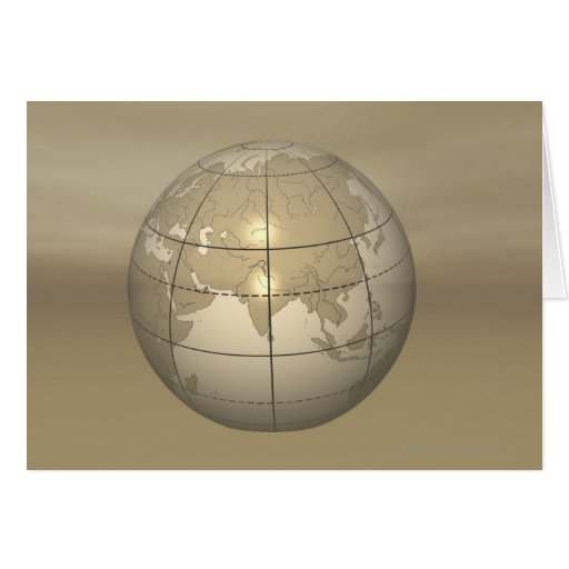 3D Globe Greeting Cards