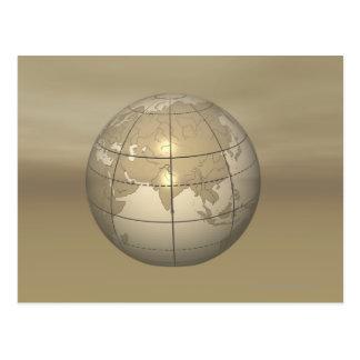 3D Globe Postcard