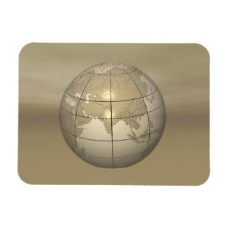 3D Globe Rectangular Magnet