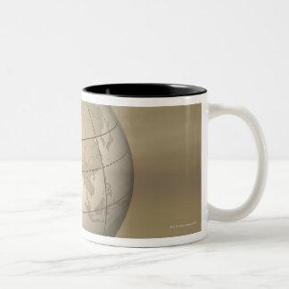 3D Globe Two-Tone Coffee Mug