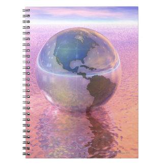 3D globo 12 Spiral Notebooks