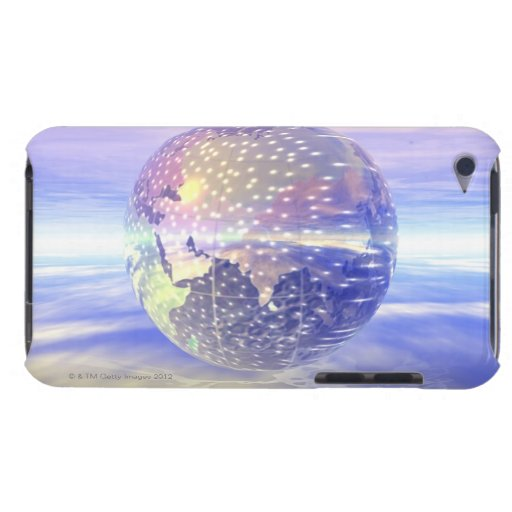 3D globo 13 Barely There iPod Carcasas