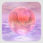 3D globo 16 Etiqueta