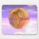 3D globo 2 Alfombrillas De Ratón