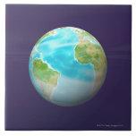 3D globo 4 Azulejo Cerámica